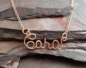 14k  Rose Gold Filled Personalized Name or Word Necklace
