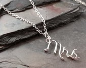 Sterling Silver Personalized Name or Word Necklace, Drop style