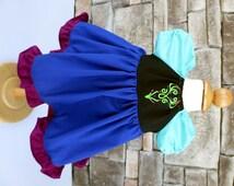 Anna Dress - 0 to 3 Month  - Everyday Princess Dress - Custom Ana Costume