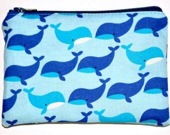 Little Whales Coin Purse Zipper Pouch