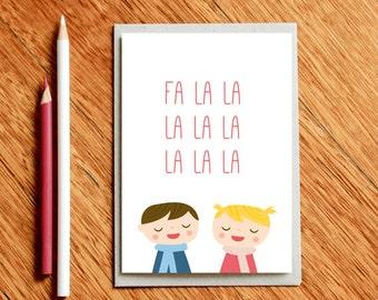 Funny Christmas Card, Funny Holiday Card, Funny Xmas Card, Seasons Greetings, Christmas Gift, Xmas Gift, Funny Card, Christmas Cards, falala