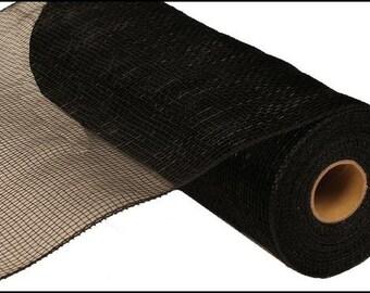 10 Inch Black Deco Mesh Roll RE130202, Deco Mesh Supplies
