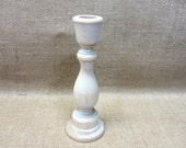 Wood Candle Holder Candlestick 6-3/4 Inches Tall