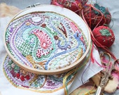 Paisley DIY Embroidery Sampler