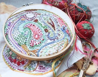 Paisley DIY Embroidery Sampler
