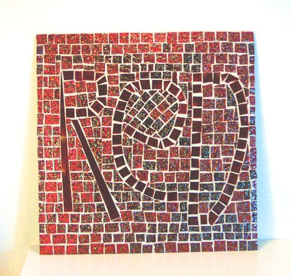 Red Mosaic Wall Decor : Stained glass mosaic home furnishing liverpool red decor