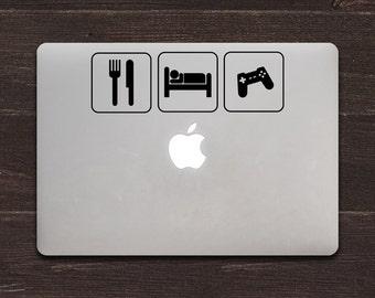 Eat Sleep Game Vinyl MacBook Decal BAS-0136