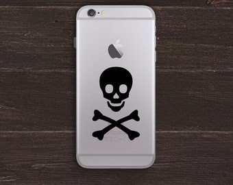 Skull and Crossbones Vinyl iPhone Decal BAS-0183