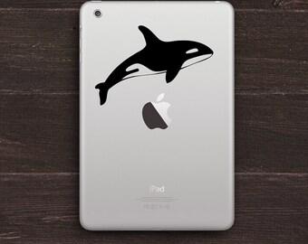 Orca Whale Vinyl iPad Decal BAS-0242