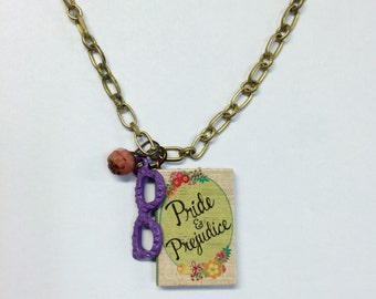 Lovely Pride and Prejudice Book Necklace