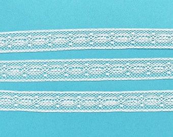 White French Cotton Lace Insertion - Heirloom Sewing Supplies - Doll Dress Supplies