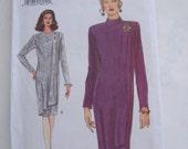 Very Easy Very Vogue Pattern 8849, Misses'/Misses Petite Dress, Size 12-14-16, Bust 34, 36, 38, Uncut