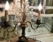 Art Nouveau French Candelabra Lamp