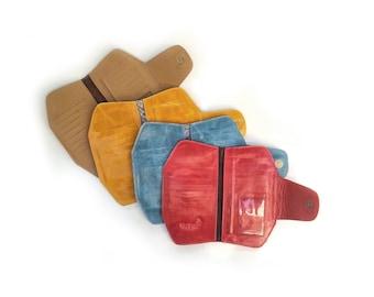 Red leather wallet, handmade wallet, red wallet, red leather clutch purse, red clutch purse, womens wallet, minimalist wallet, big wallet