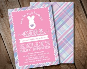 DIY Printable Bunny Baby Shower Invitation