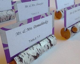 Birch Log Escort Cards, Rustic Escort Card, Wood Place Card, Garden Wedding