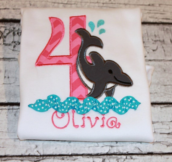 Items Similar To Girl 39 S Dolphin Birthday Personalized