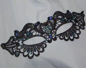 Peacock Lace Masquerade Mask - Available in Many Colors