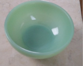 Vintage Fire King Jadeite Chili Bowl 1950s Light Green Glass