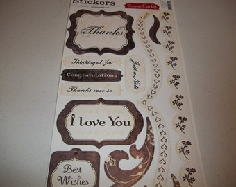 "Drop Me a Note Cardstock Stickers by Cosmo Cricket 5.5"" x 13"" sheet"
