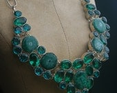 stalagtite with apatite necklace 925 sterling