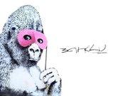 Banksy Print  - Gorilla Signature  - Multiple Paper Sizes