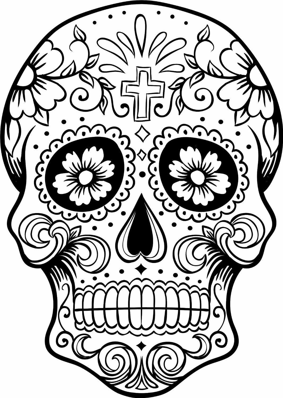 owl sugar skull coloring page