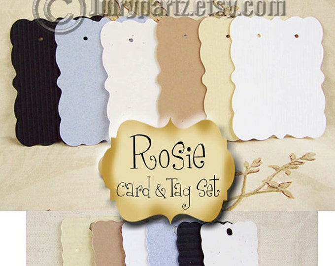 ROSIE•45 Earring Card and 50 Tag Set•Jewelry Cards•Earring Display•Earring Holder•Bracelet tag
