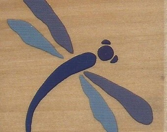 Dragonfly Stamp -- NEW -- Wood Mounted Rubber Stamp -- Rubber Stampede Brand --  (#797)