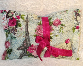 French Lavender Sachet Vintage French Market Floral Sachet Handmade and Hand Stamped Filled with French Lavender Ooh La La Set