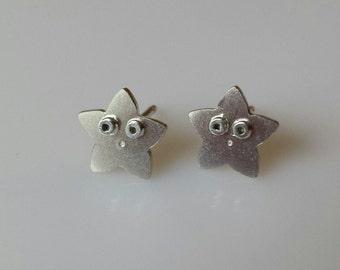 STARFISH Stud Earrings Sterling Silver Mini Zoo