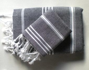 turkish towel set body and head towels peshtemal and peshkir quick dry - Turkish Towels