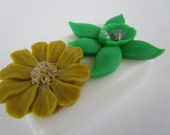 FLOWER SOAP BAR - gifts for teens, gifts for woman, Stocking stuffer for her, green and gold flower