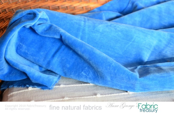 Blue velvet fabric by the yard soft pillow by fabrictreasury - Dolce vita marseille ...