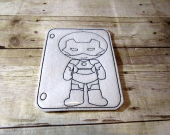 Robot Reusable Coloring Page, Felt Coloring Page, Vinyl Coloring Page, Kids Coloring Page, Dry Erase Coloring,Birthday Gift, Holiday Gift