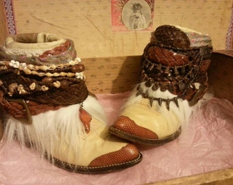 Sold! Upcycled reworked vintage cowgirl boots