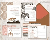 Wedding Invitations - Zoo Invitations/Safari Invitations/Africa Collection