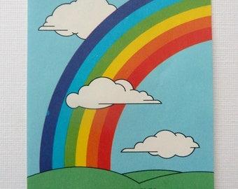 Vintage Rainbow Bookplates; Vintage Antioch Bookplates