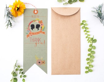 DIY Printable - Bookmark Thank You Card - Library Book Invitation Set