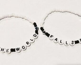 AS THE WoRLD / FALLS DoWN (Labyrinth) Beaded Friendship Bracelets