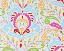 END of BOLT - 16 inches - Dena Designs - Kumari Garden - Sujata in Pink Cotton Quilting Fabric