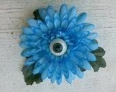 Blue Flower Green Eye Hair clip