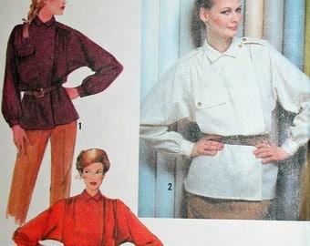 Vintage Yoke Shirt with Dolman Sleeves Sewing Pattern Simplicity 9148 Bust 38 UNCUT