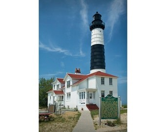 Big Sable Point Lighthouse on Lake Michigan in Ludington State Park in Michigan - No.1 A Lighthouse Seascape Photograph
