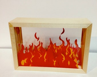 Fire Shadow Box (large)