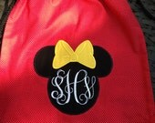 Disney Drawstring Backpack with monogrammed initials