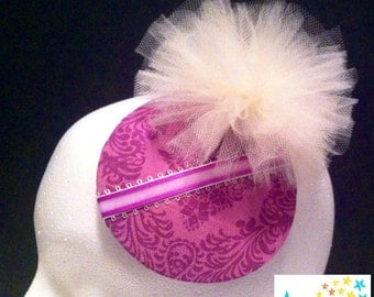 SALE. Small purple fascinator hat. Portion of sale goes to charity.
