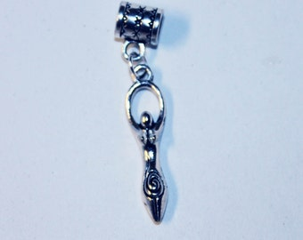 Silver Lunar Goddess Lr Hole Bead Fits All European Add a Bead Charm Bracelet Jewelry PND-PWC-GH010