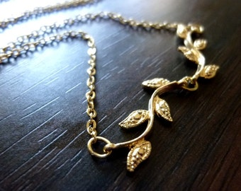 40% OFF SALE! VENA -Connected Branch with Leaves Necklace