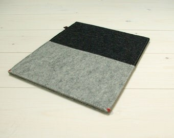 IPAD AIR COVER in 2 colors grey wool felt - cover for Ipad 1 2 3 4 and smartcover - men, gift